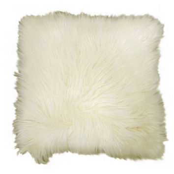 """Better Homes and Gardens Faux Fur Decorative Pillow, Ivory, 16""""x16"""""""