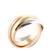 Must De Cartier 18 Kt Rose Yellow Gold Trinity Band Ring Size 5 AC12144 MHL