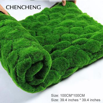 Square Mat Size 100CM*100CM Artificial Plant Turf Grass Green Hotel Shop Garden Wall Bedroom Living Room Decoration Grass