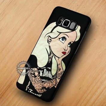 Punk Alice in Wonderland Tattoo - Samsung Galaxy S8 S7 S6 Note 8 Cases & Covers #SamsungS8