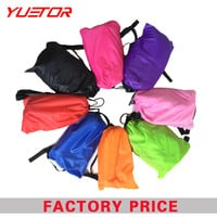 Brand Yuetor fast inflatable lounger air sleep camping sofa portable camping travel outdoor hangout laybag lazy bag