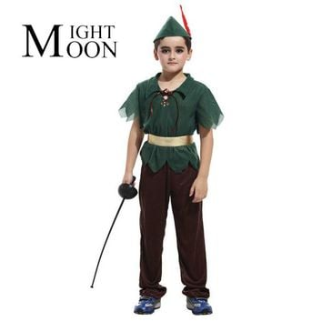 MOONIGHT Peter Pan Cosplay Costumes For Boys Halloween Carvinal Kids Cosplay Costumes For Kids Children Cosplay Costumes