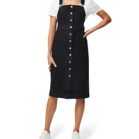 Denim - Button Front Pinafore - Clothing - Sportsgirl