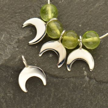 Sterling Silver Tiny Crescent Dangle