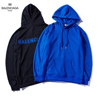 Balenciaga 2018 autumn and winter new style brand letter patch hooded sweater F-A-KSFZ