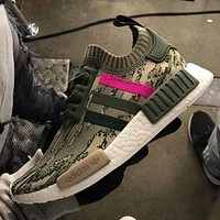 Adidas NMD Trending Women Men Casual Camouflage Print Sport Shoe Sneakers Khaki I