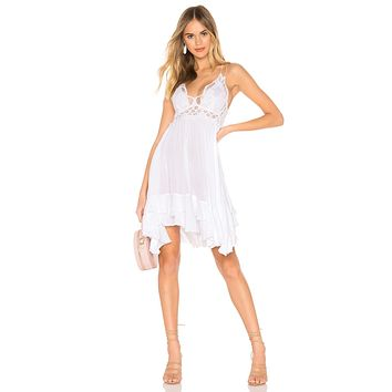 Free People Adella Slip White