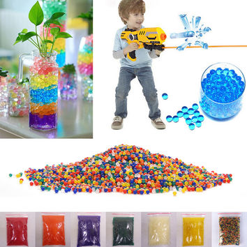 10000pcs packet 9-13mm colored orbeez soft crystal water paintball nerf gun bullet grow water beads grow balls water gun toys