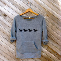 all those in favor say NAY Horse Sweatshirt by nicandthenewfie