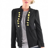 Military Open Front Jacket - Diva Hot Couture