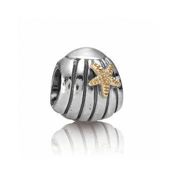 PANDORA Two-Tone Sea Shell Charm