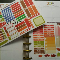 Fall sampler Planner / Calendar stickers for your Erin Condren, Inkwell Press, Plum Paper, Happy Planner, Filofax