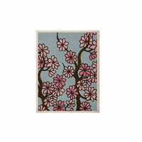 "Art Love Passion ""Cherry Blossom Day"" Floral Illustration KESS Naturals Canvas (Frame not Included)"