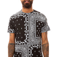 LATHC Tee Paisley Squares in Black