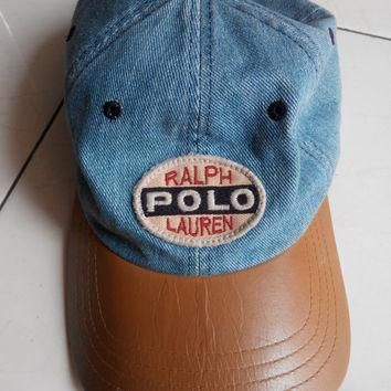Vintage Polo Sport By Ralph Lauren , Polo Sport Patches Spelling Hat