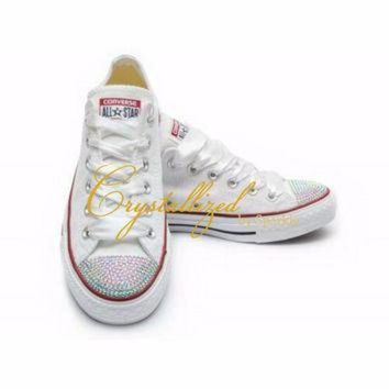 ... quality products 7de55 cd10c CREYUG7 Gorgeous Swarovski Crystal Bling  Converse Chuck Taylor A ... 833c1079a
