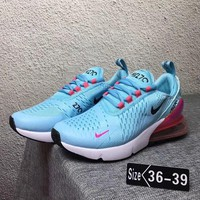 Nike Air Max 270 Trending Women Leisure Running Sneakers Sport Shoes Light Blue I