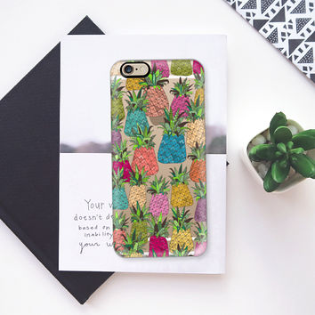 West Coast pineapples transparent iPhone 6s case by Sharon Turner | Casetify