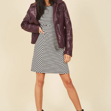 Moto You Than Meets the Eye Jacket in Raisin | Mod Retro Vintage Jackets | ModCloth.com