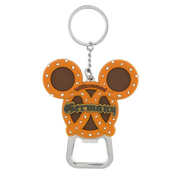 Disney Parks Mickey Icon Germany Pretzel Bottle Opener Keychain New with Tags