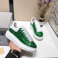 Alexander McQueen Women Men Fashion Casual Green sports shoes Size 36-45