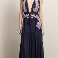 Madrid Embroidered Maxi Dress