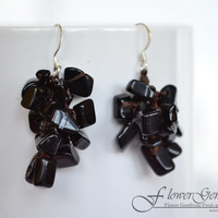 Vintage Earrings Onyx Stone Handmade 925 Silver Earrings for Fashion and Bohemian Style by Flower GemStone