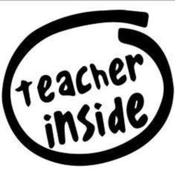 Teacher Inside  Vinyl Car/Laptop/Window/Wall Decal
