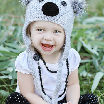 CROCHET PATTERN // Crochet Koala Beanie pattern // Crochet Hat Pattern // Crochet beanie pattern // Instant download // Crochet // Pattern