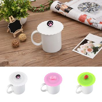 Silicone Cute Anti-dust Glass Cup Bowls Cover Coffee Mug Suction Seal Lid Cap Cooking Pot Lid-silicon Stretch Lids