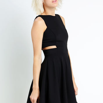 Side-Cut Flare Dress
