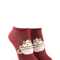 Catpuccino Ankle Socks