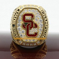 2017 USC Trojans Rose Bowl Championship Ring With Wooden Box