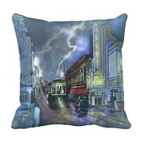 The Straight Theater At Haight Street Throw Pillow