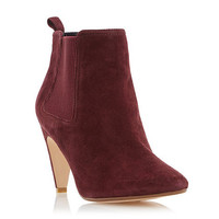 Womens Maroon Dune Maroon 'Olivv' pointed toe ankle boot
