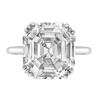 CARTIER 8.06 Carat Asscher-Cut Diamond Ring | 1stdibs.com
