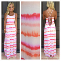 Sunset Sorbet Tie Dye Maxi Dress