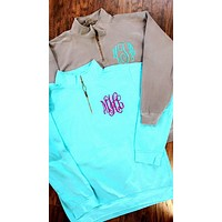 Comfort Colors Monogrammed Quarter zip