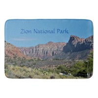 Mountain Zion National Park Bathroom Mat