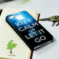 Frozen Keep Calm And Let It Go iphone 4/4S iphone 5 Samsung s3 Samsung S4 on Hard Plastic and Rubber