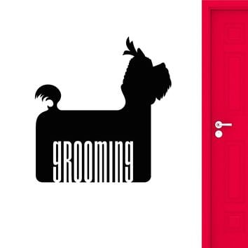 Vinyl Wall Decal Dog Pet Grooming Beauty Salon Logotype Stickers (2412ig)