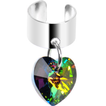 Heart Dangle Ear Cuff MADE WITH SWAROVSKI ELEMENTS | Body Candy Body Jewelry