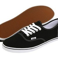 NEW WOMEN VANS AUTHENTIC LO PRO BLACK TRUE WHITE VN-0GYQ6BT ORIGINAL