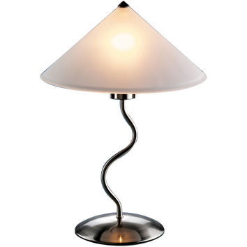 Doe Li Touch Lamp, Brushed Satin Finish