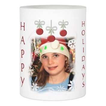 Christmas Holiday Custom Photo Candle Flameless Candle