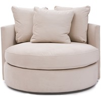 Betty Swivel Chair, View Oyster - Chairs - Furniture