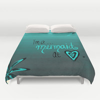 Mermaid At Heart Duvet Cover by Intrinsic Journeys