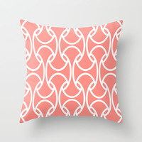 Coral Links Throw Pillow by House Of Jennifer | Society6