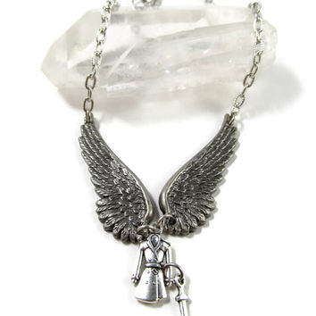 Angel in a Trenchcoat: Castiel Supernatural Inspired Necklace