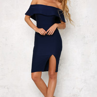 Persian Rugs Midi Dress Navy